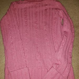 Express cable sweater pink and sparkly size Large